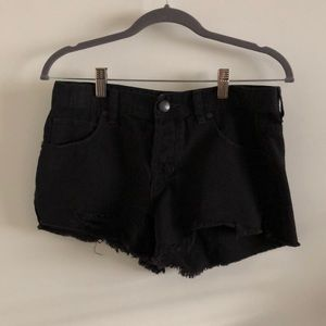 Free People Black Denim Cutoff Shorts size 26